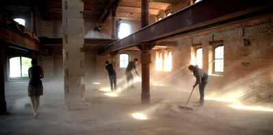 Arturo Hernández Alcázar, 'Canon for seven brooms, dust and an empty building', 2012