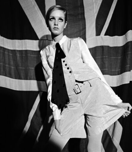 Terence Donovan, 'Twiggy in 'Sundae Best' Fashion Feature for Women's Mirror, London, 3rd June 1966 (published 27th August 1966)', 1966