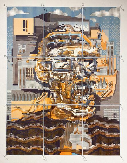 Feed (Aude Jomini & Eben Kling), 'Tileset head 5', 2020