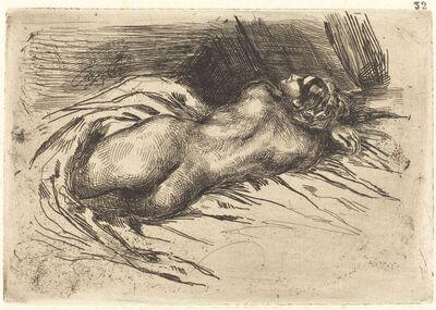 Eugène Delacroix, 'Study of a Woman, Viewed from the Back (Étude de femme vue de dos)', 1833