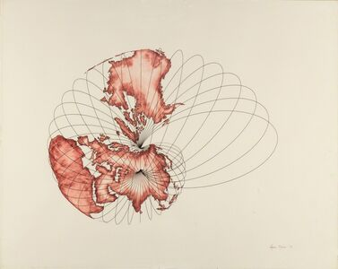 Agnes Denes, 'Isometric Systems in Isotropic Space - Map Projections: The Snail', 1978