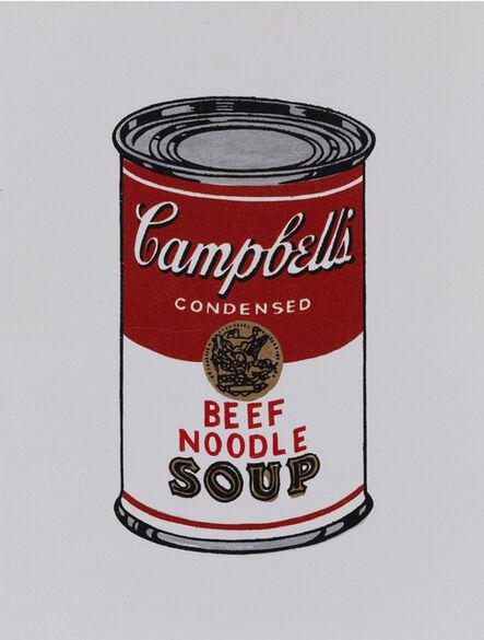 Richard Pettibone, 'Andy Warhol, Campbell Beef Noodle soup, 1962', 1987