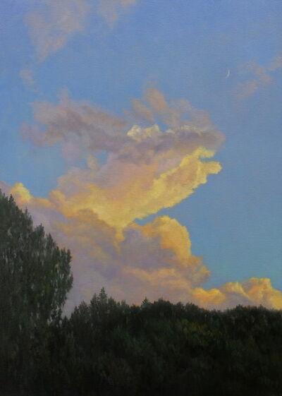 Willard Dixon, 'Evening Sky with Crescent Moon', 2018
