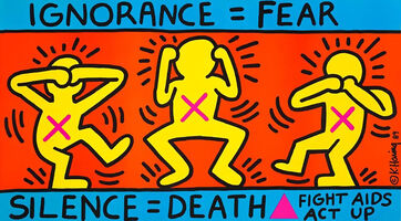 Keith Haring, 'Keith Haring Ignorance = Fear 1989 (Keith Haring ACT UP)', Keith Haring Ignorance = Fear 1989 (Keith Haring ACT UP)