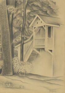 George Copeland Ault, 'Part of Garage', 1926