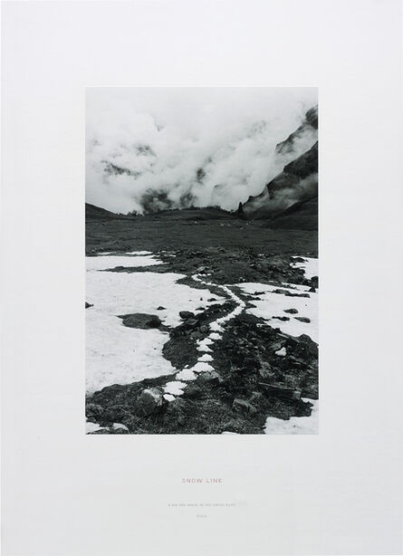Richard Long, 'Snow Line (A Six Day Walk in the Swiss Alps)', 2002