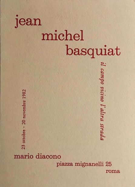 Jean-Michel Basquiat, 'Basquiat 1982 Rome Announcement (Basquiat Italy 1982) ', 1982