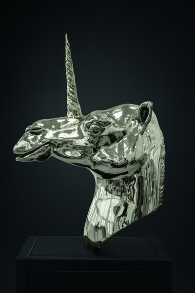 Mauro Corda, 'Tête chameau - licorne', 2015