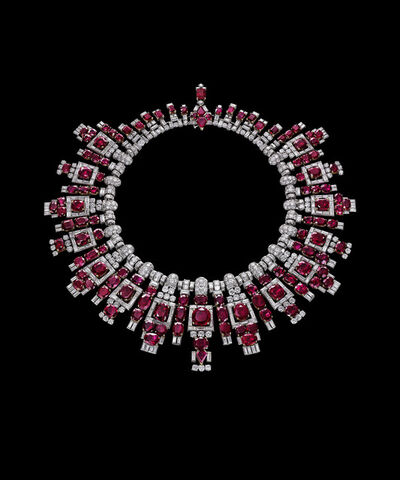 The Al Thani Collection, 'Nawanagar ruby necklace, Cartier, London', 1937