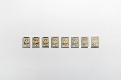 """Luis Molina-Pantin, 'Untitled (8 ccopies of """"Carlos, el chacal venezolano"""" in gradient)', 2011"""