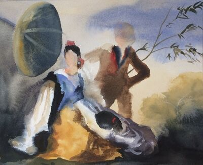 Elise Ansel, 'Study II for Green Parasol, after Goya', 2015