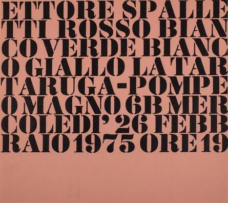 Ettore Spalletti, 'Rosso bianco verde bianco giallo', 1975