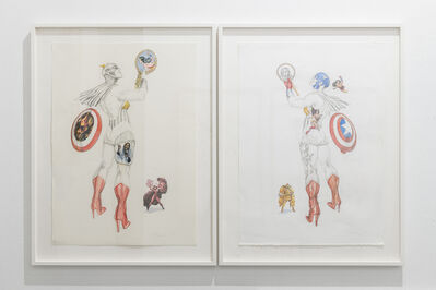 Margaret Harrison, 'Getting close to my masculinity ', 2013