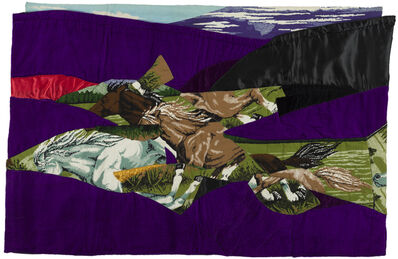 Gülsün Karamustafa, 'ATLI HALI / CARPET WITH HORSES', 1986
