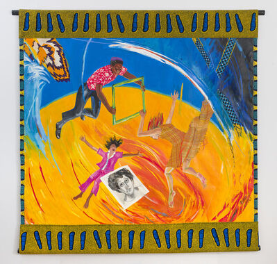 Emma Amos, 'Women and Children First: Howardena's Portrait', 1990