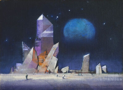 John Harris, 'Crystal Cluster with Blue Moon', 2015