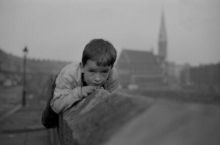 John 'Hoppy' Hopkins, 'Boy on Wall, Harrow Road, London', 1963