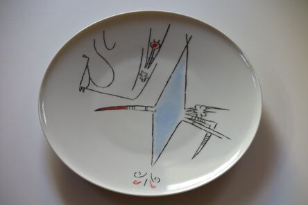 "Wifredo Lam, 'Porcelana di Albisola - 12"" plate II', 1970"