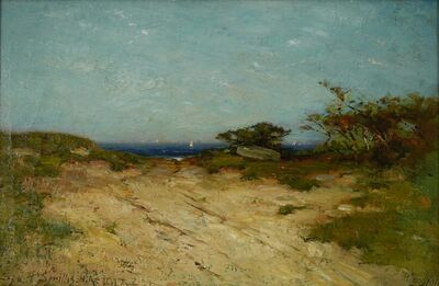 George Henry Smillie, 'Road to the Sea, Marblehead Neck', 1917