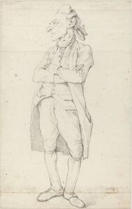 François-André Vincent, 'A Gentleman Standing with His Arms Crossed'