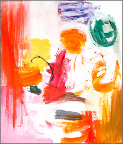 Scott Pattinson, 'Kairoi No 09 - small, vibrant, red, orange, gestural, abstract, oil on canvas', 2016