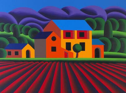 Oleg Khvostov, 'LANDSCAPE WITH HOUSE AND FIELD ', 2016