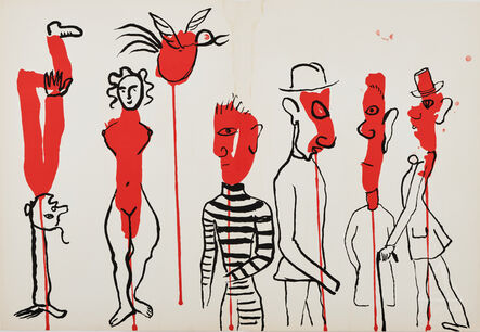 Alexander Calder, 'Criminel au mileu (Circus 3) from Derrière Le Miroir', 1966