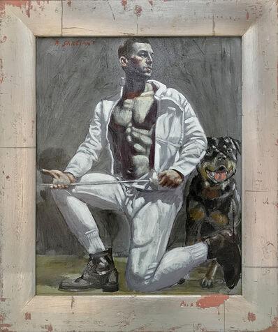 Mark Beard, '[Bruce Sargeant (1898-1938)] Fencer with Dog', n.d.