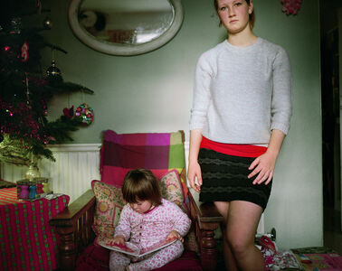 Sian Davey, 'Martha and Alice Christmas Morning', 2013