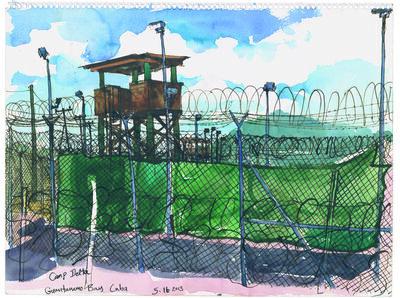 Steve Mumford, '5/16/13 Camp Delta, Guantanamo Bay, Cuba', 2013