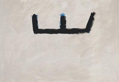 Robert Motherwell, 'Brushy Open on Buff Ground', 1983