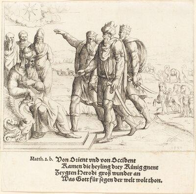 Augustin Hirschvogel, 'The Three Kings Tell Herod of Christ's Birth', 1549