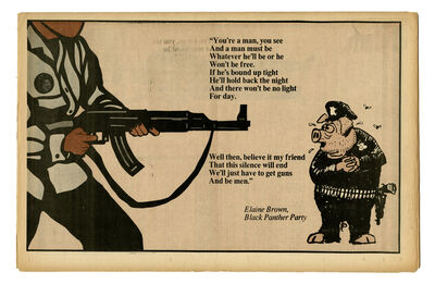 """Emory Douglas, '""""We'll just have to get guns and be men""""', 1970"""
