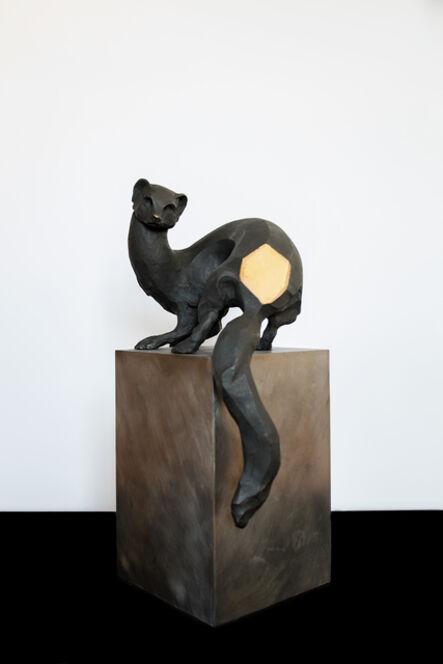 Alfredo Cota, 'Comadreja chica (bronce)', 2017
