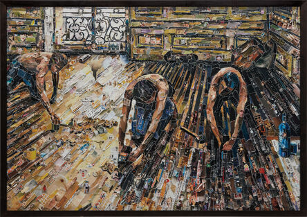 Vik Muniz, 'Floor Scrapers, after Gustave Caillebotte from Pictures of Magazines 2', 2011