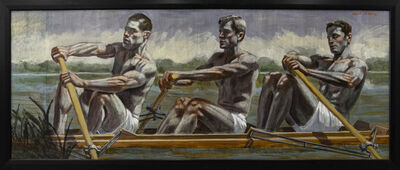 Mark Beard, '[Bruce Sargeant (1898-1938)] Three Rowers, Early Morning Practice', n.d.