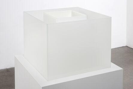 Larry Bell, 'Untitled Maquette (True Fog / Optimum White)', 2018
