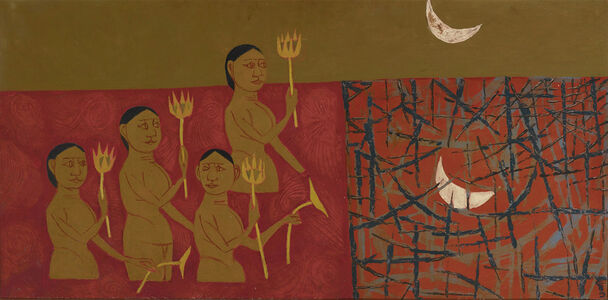 K. G. Subramanyan, 'Bathers in Moonlight', ca. 1958