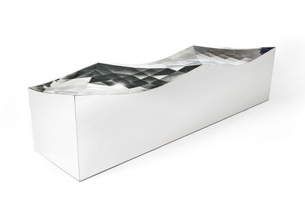 Zhoujie Zhang, 'Wave Bench (SQN1-M) in Stainless Steel', 2011