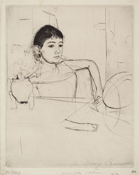 Mary Cassatt, 'Mimi as a Brunette', ca. 1889