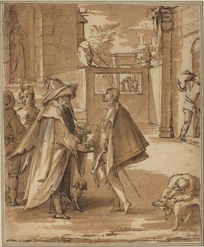 Karl van Mander I, 'The Departure of the Prodigal Son'