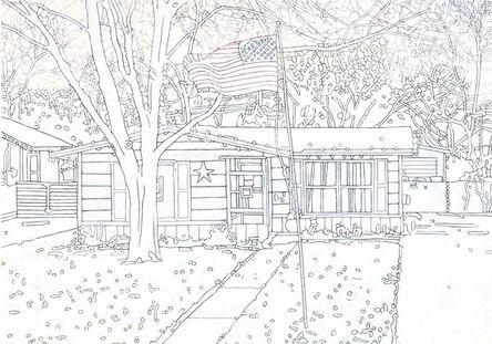 Tom Molloy, 'House with Flag (4)', 2018