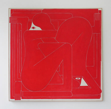 Richard Colman, 'Red Square (Two Figures)', 2017