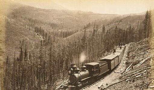 William Henry Jackson, 'Marshall Pass, West Side', 1881 / 1880s