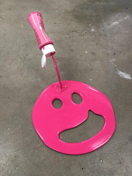 Joe Suzuki, 'Mini Happy Face (Pink)', 2017