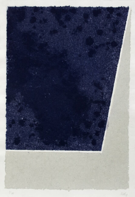 Ellsworth Kelly, 'Colord Paper Image X (Blue and Gray)', 1976