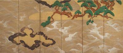 Tawaraya Sōtatsu, 'Waves at Matsushima (Matsushima-zu)', 17th century