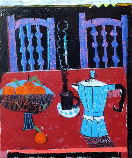 Joachim Lambrechts, 'Red breakfast table', 2020