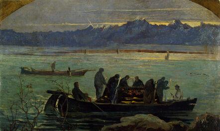 Giovanni Marchini, 'Procession over the lagoon', 1902-1904