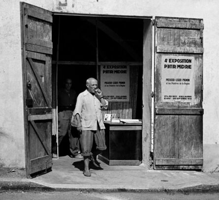 André Villers, 'Picasso leaving exhibition in Vallauris', 1953